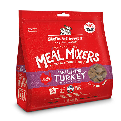 Stella & Chewy's - Meal Mixers Tantalizing Turkey - Freeze-Dried Dog Food - 3.5 oz (Hillsborough County FL Delivery Only)