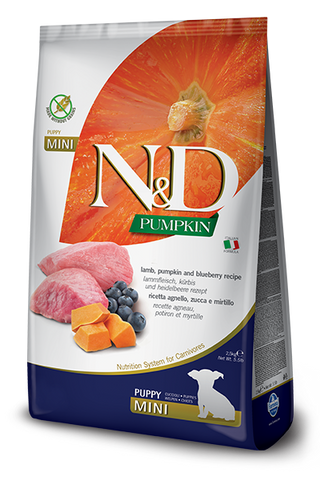 Farmina - N&D Pumpkin, Lamb & Blueberry Puppy Mini - Dry Dog Food - Various Sizes