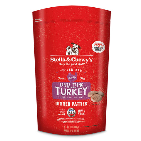 Stella & Chewy's - Tantalizing Turkey Dinner Patties - Raw Frozen Dog Food - Various Sizes (Hillsborough County FL Delivery Only)