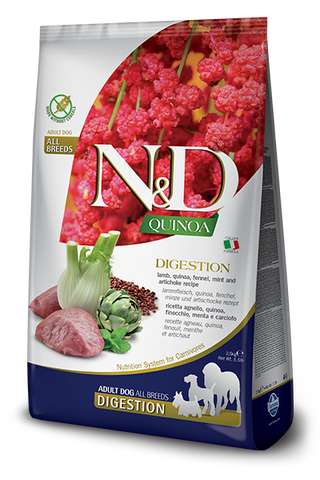 Farmina - N&D Quinoa Functional Digestion Lamb - Dry Dog Food - Various Sizes