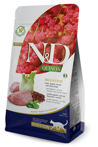 Farmina - N&D Quinoa Functional Digestion Lamb - Dry Cat Food - Various Sizes