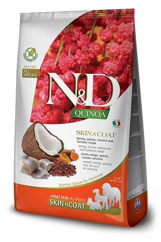Farmina - N&D Quinoa Functional Skin & Coat Herring - Dry Dog Food - Various Sizes