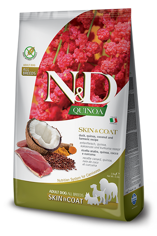 Farmina - N&D Quinoa Functional Skin & Coat Duck - Dry Dog Food - Various Sizes