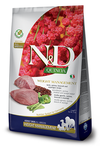 Farmina - N&D Quinoa Functional Weight Management Lamb - Dry Dog Food - Various Sizes