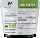 Valiant Pet Nutrition - Beef Medallions - Raw Dog Food - 4 lb (Local Tampa Bay Delivery Only)