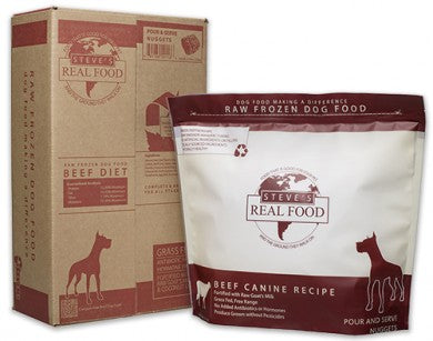 Steve's Real Food - Beef Patties - Raw Dog Food - 13.5 lb (Local Tampa Bay Delivery Only)