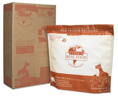 Steve's Real Food - Pork Patties - Raw Dog Food - 13.5 lb (Local Tampa Bay Delivery Only)