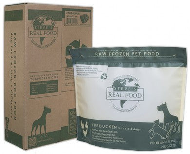 Steve's Real Food - Turducken Nuggets - Raw Dog Food - Various Sizes (Local Tampa Bay Delivery Only)