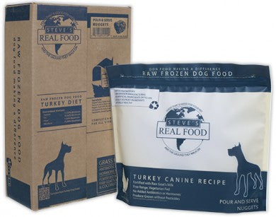 Steve's Real Food - Turkey Patties - Raw Dog Food - 13.5 lb (Local Tampa Bay Delivery Only)