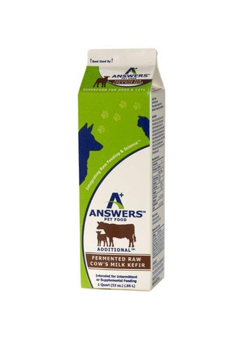 Answers - Additional Raw Cow's Milk Kefir (Hillsborough County FL Delivery Only)