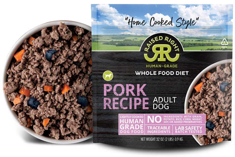 Raised Right - Pork Recipe - Gently Cooked Dog Food - 2 lb (Hillsborough County FL Delivery Only)