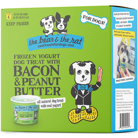 The Bear & The Rat - Frozen Bacon & Peanut Butter Yogurt (Hillsborough County FL Delivery Only)