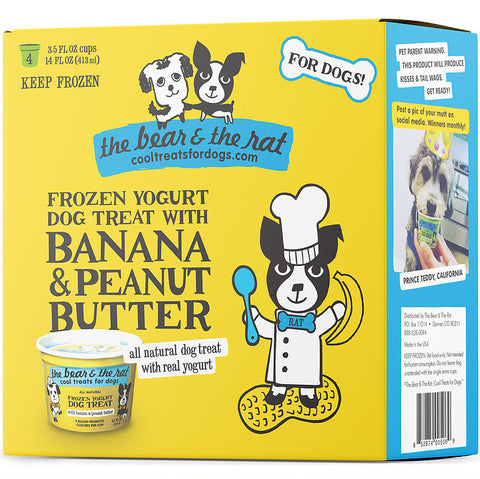 The Bear & The Rat - Frozen Banana & Peanut Butter Yogurt (Hillsborough County FL Delivery Only)
