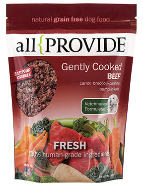 All Provide - Gently Cooked Beef Crumble - Gently Cooked Dog Food - 2 lb (Hillsborough County FL Delivery Only)