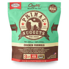 Primal - Chicken Nuggets - Raw Dog Food - 3 lb (Hillsborough County FL Delivery Only)