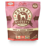 Primal - Turkey & Sardine Nuggets - Raw Dog Food - 3 lb (Hillsborough County FL Delivery Only)