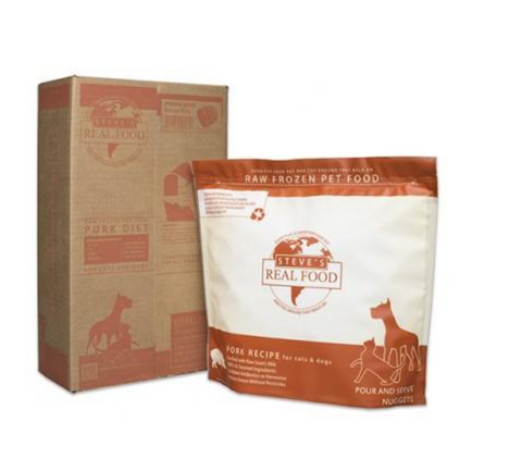Steve's Real Food - Pork Nuggets - Raw Dog Food - Various Sizes (Hillsborough County FL Delivery Only)