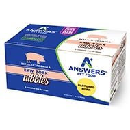 Answers - Detailed Nibbles Pork - Raw Dog Food - 2.2 lb (Hillsborough County FL Delivery Only)