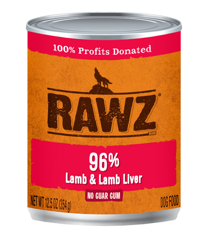 RAWZ - 96% Lamb & Lamb Liver - Wet Dog Food - 12.5 oz