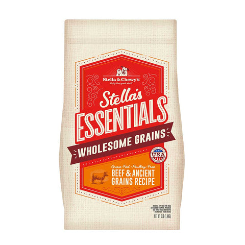 Stella & Chewy's - Essentials Wholesome Grains Grass-Fed Beef - Dry Dog Food - Various Sizes (Hillsborough County FL Delivery Only)