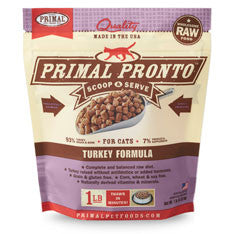 Primal - Turkey Pronto - Raw Cat Food - 1 lb (Hillsborough County FL Delivery Only)