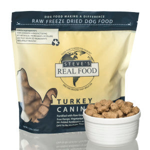 Steve's Real Food - Turkey Nuggets - Freeze-Dried Dog Food - 1.25 lb