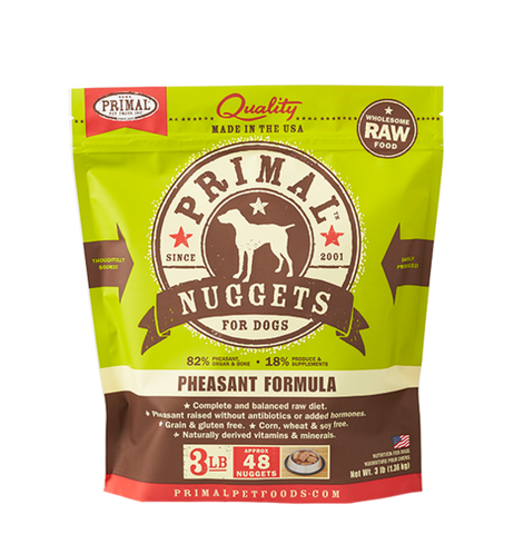Primal - Pheasant Nuggets - Raw Dog Food - 3 lb (Local Tampa Bay Delivery Only)