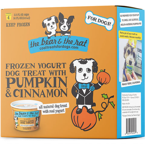 The Bear & The Rat - Frozen Pumpkin & Cinnamon Yogurt (Hillsborough County FL Delivery Only)