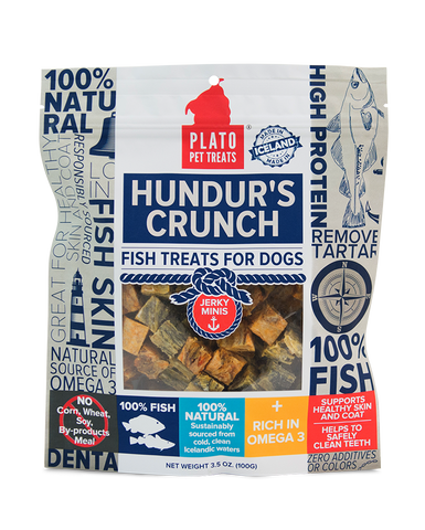 Plato Pet Treats - Hundur's Crunch Jerky Minis Treat