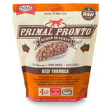 Primal - Beef Pronto - Raw Dog Food - Various Sizes (Local Tampa Bay Delivery Only)