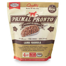 Primal - Lamb Pronto - Raw Dog Food - 4 lb (Local Tampa Bay Delivery Only)