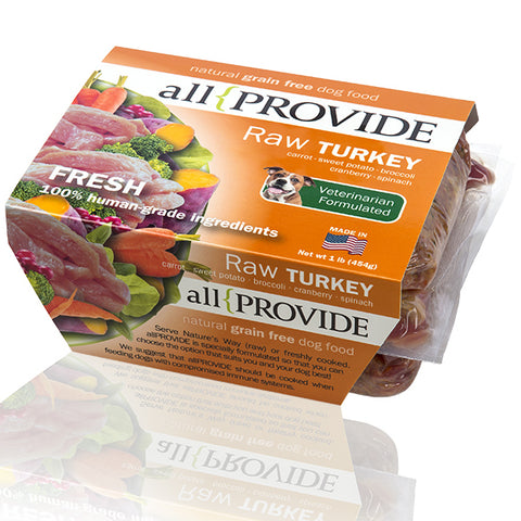 All Provide - Turkey Recipe - Raw Dog Food - 2 lb (Hillsborough County FL Delivery Only)