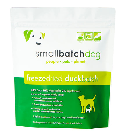 SmallBatch - Duck Sliders - Freeze-Dried Dog Food - 14oz