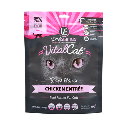 Vital Essentials - Chicken Patties - Raw Cat Food - 28oz (Hillsborough County FL Delivery Only)