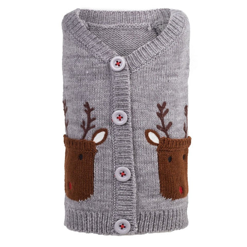 The Worthy Dog - Reindeer Cardigan