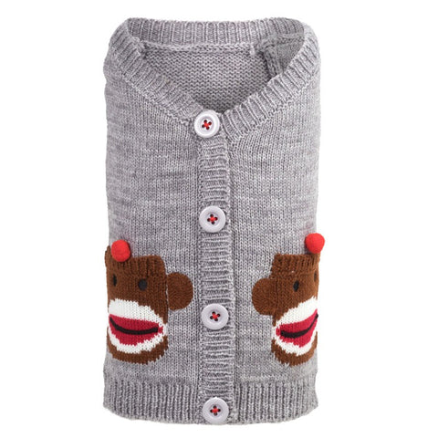 The Worthy Dog - Sock Monkey Cardigan