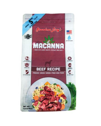 Grandma Lucy's - Macanna Beef - Freeze-Dried Dog Food - Various Sizes
