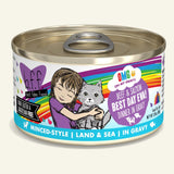 Weruva - B.F.F OMG! Beef & Salmon Best Day Eva! Beef & Salmon Dinner in Gravy - Wet Cat Food - 2.8 oz