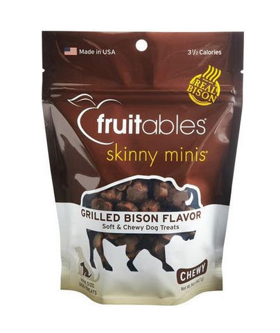 Fruitables - Skinny Minis Grilled Bison Flavor Soft and Chewy Treat
