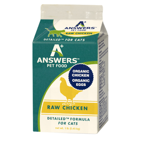 Answers - Detailed Chicken - Raw Cat Food - 1 lb (Hillsborough County FL Delivery Only)