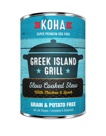 KOHA - Greek Island Grill with Chicken & Lamb Slow Cooked Stew - Wet Dog Food - 12.7 oz