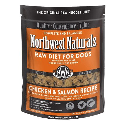 Northwest Naturals - Nuggets Chicken & Salmon - Raw Dog Food - 6 lb (Hillsborough County FL Delivery Only)