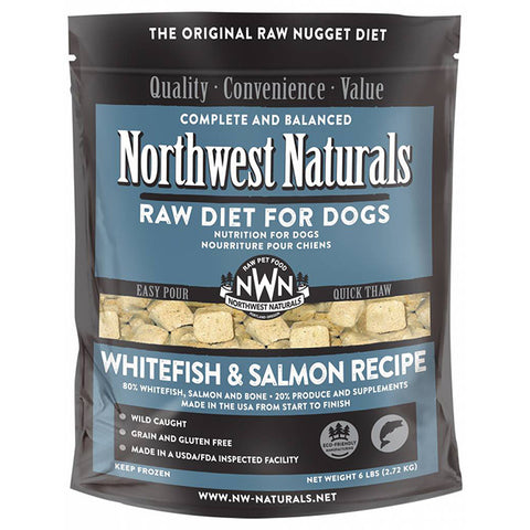 Northwest Naturals - Nuggets Whitefish & Salmon - Raw Dog Food - 6 lb (Hillsborough County FL Delivery Only)