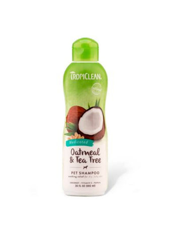 TropiClean - Oatmeal & Tea Tree Medicated Shampoo