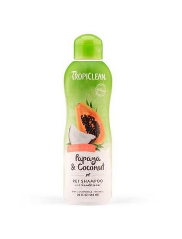 TropiClean - Papaya & Coconut Luxury 2-in-1 Cleansing Shampoo & Conditioner