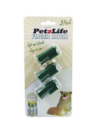 Petzlife - Finger Brush 3 Pack