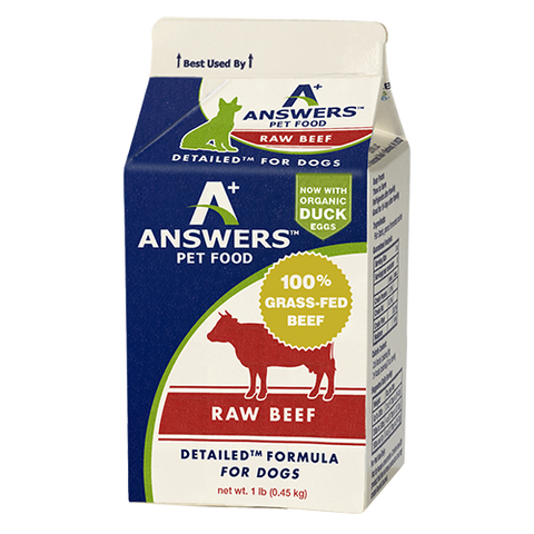 Answers - Detailed Beef  - Raw Dog Food - Various Sizes (Hillsborough County FL Delivery Only)