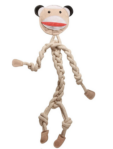 HuggleHounds - Sock Monkey Rope Knottie Toy