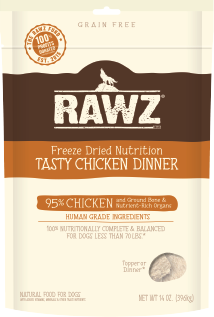 RAWZ - Tasty Chicken Dinner - Freeze-Dried Dog Food - Various Sizes