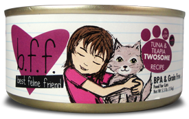 B.F.F (Best Feline Friend) - Twosome Tuna & Tilapia - Wet Cat Food - 3 oz